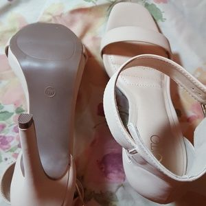 0f7e5e92d5a Cato Shoes - Wide Width Nude Heel with Ankle Strap
